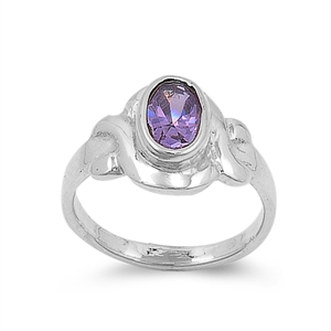 Silver Baby Ring W/ CZ - $4.94