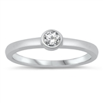 Silver CZ Ring - Baby Ring - $3.05