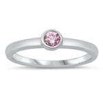 Silver CZ Ring - Baby Ring - $2.89