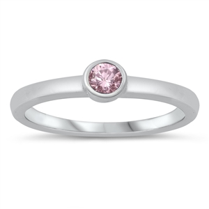 Silver CZ Ring - Baby Ring - $3.51