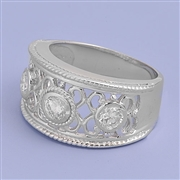 Silver CZ Ring - $10.50