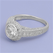 Silver CZ Ring - $10.05