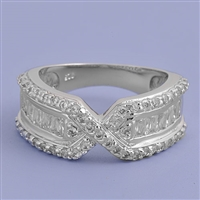 Silver CZ Ring - $10.00