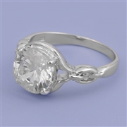 Silver CZ Ring - $7.00