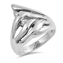 Silver CZ Ring - $6.40