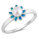 Silver Ring W/ CZ - Flower - $8.02