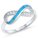 Silver Lab Opal Ring - Infinity - $5.64