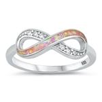 Silver Lab Opal Ring - Infinity - $5.41