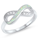 Silver Lab Opal Ring - Infinity - $6.29