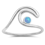 Silver Lab Opal Ring - Wave - $4.48