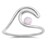 Silver Lab Opal Ring - Wave - $5.01