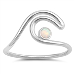 Silver Lab Opal Ring - Wave - $4.93