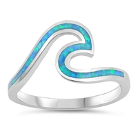 Silver Lab Opal Ring - Wave - $7.41