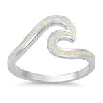 Silver Lab Opal Ring - Wave - $7.05