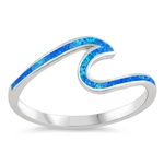 Silver Lab Opal Ring - Wave - $7.51