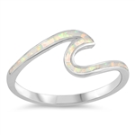 Silver Lab Opal Ring - Wave - $6.33