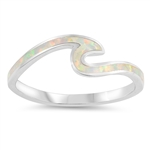 Silver Lab Opal Ring - Wave - $6.15