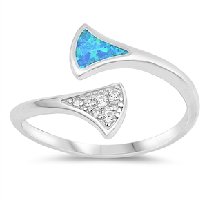 Silver Ring W/ Stone - $5.89