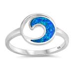 Silver Lab Opal Ring - Wave - $6.75