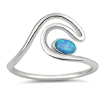 Silver Lab Opal Ring - Wave - $5.36