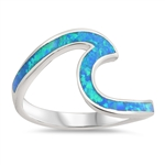 Silver Lab Opal Ring - Wave - $8.75