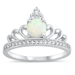Silver Lab Opal Ring - Crown - $7.82