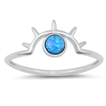 Silver Lab Opal Ring - Eye - $3.79