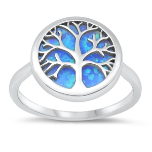 Silver CZ Ring - Tree of Life -$7.98