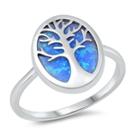 Silver CZ Ring - Tree of Life - $6.32