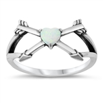 Silver CZ Ring - Heart Arrows - $5.58