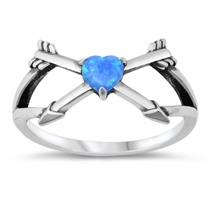 Silver CZ Ring - Heart & Arrows - $5.54
