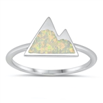 Silver CZ Ring - Mountain