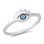 Silver Lab Opal Ring - Eye - $3.73