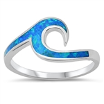 Silver Lab Opal Ring - Wave - $6.68