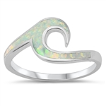 Silver Lab Opal Ring - Wave
