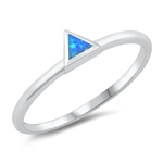 Silver Lab Opal Ring - Triangle - $3.73