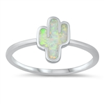 Silver Lab Opal Ring - Cactus - $5.78