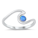 Silver Lab Opal Ring - Wave - $4.30