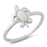 Silver Lab Opal Ring - Turtle - $5.15