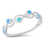 Silver Lab Opal Ring - Infinity - $5.82