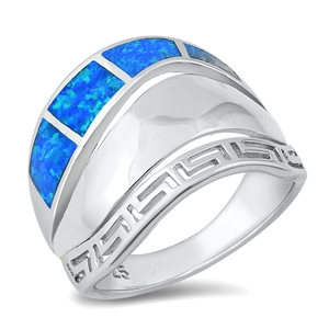 Silver Lab Opal Ring - Aztec - $11.75