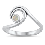 Silver Lab Opal Ring - Wave - $6.38
