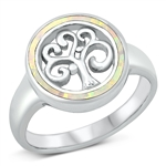 Silver Lab Opal Ring - Tree of Life - $8.95