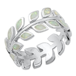 Silver Lab Opal Ring - Eternity Fern - $11.05