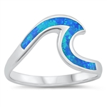 Silver Lab Opal Ring - Wave - $6.59