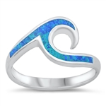Silver Lab Opal Ring - Wave - $6.84