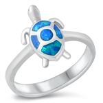 Silver Lab Opal Ring - Turtle - $8.95