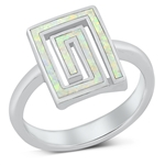 Silver Lab Opal Ring - Aztec - $7.54