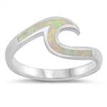 Silver Lab Opal Ring - Wave - $6.69
