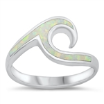 Silver Lab Opal Ring - Wave - $7.69
